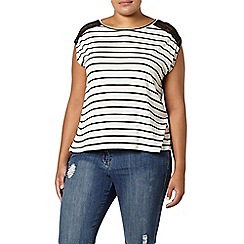 Evans - Black and white stripe top