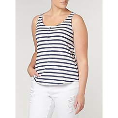 Evans - Navy and white stripe leisure vest