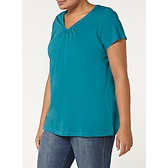 Evans - Teal green short sleeve t-shirt