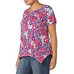 Evans - Pink floral print top