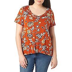 Evans - Orange print t-shirt