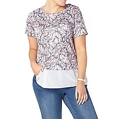 Evans - Ivory printed layered top