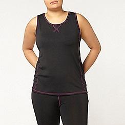 Evans - Black and purple sports vest