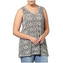 Evans - Black printed vest