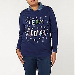 Evans - Navy team rudolph christmas jumper
