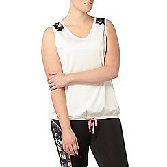Evans - Ivory activewear vest