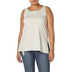 Evans - Grey stripe split vest