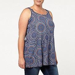 Evans - Blue printed knot vest
