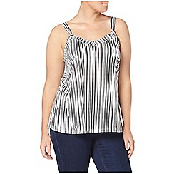 Evans - Ivory striped cami top