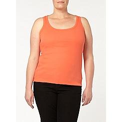 Evans - Orange basic vest