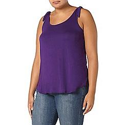 Evans - Purple tie up shoulder vest