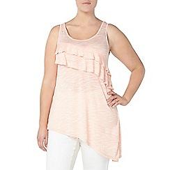 Evans - Peach orange ruffle detail vest