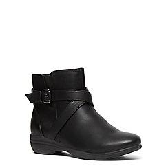 Evans - Black strap comfort ankle boot