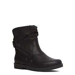 Evans - Extra wide fit black slouch ankle boot