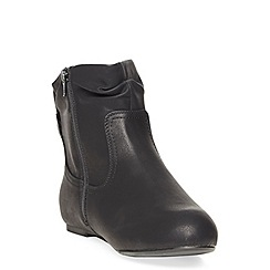 Evans - Extra wide fit black tab ankle boot