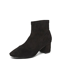 Evans - Extra wide fit black stretch ankle boots