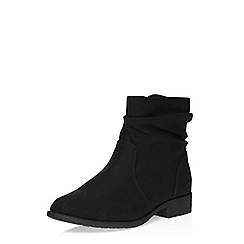 Evans - Black slouch ankle boot