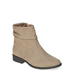 Evans - Taupe brown slouch ankle boot
