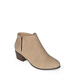 Evans - Beige block heel ankle boot