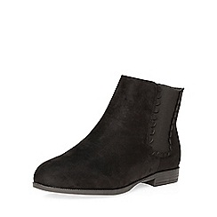 Evans - Black scallop detail chelsea boot