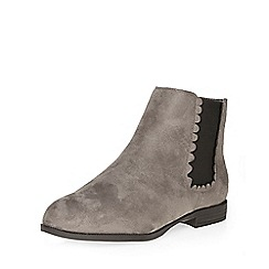 Evans - Grey scallop chelsea boot