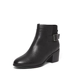 Evans - Black elastic block heel ankle boots