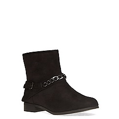 Evans - Black suedette chain boot