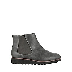 Evans - Grey chelsea flatform boots