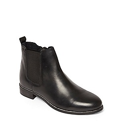 Evans - Extra wide fit black leather chelsea boots
