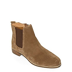 Evans - Extra wide fit brown leather chelsea boots