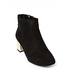 Evans - Extra wide fit black block heeled ankle boots