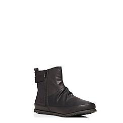 Evans - Black stretch elastic ankle boots