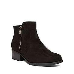 Evans - Extra wide fit black suede look chelsea boots