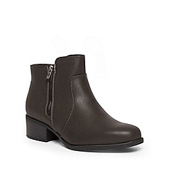 Evans - Extra wide fit grey dual zip chelsea boots