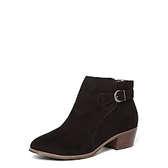 Evans - Black western low ankle boot