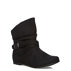 Evans - Extra wide fit black ankle boots