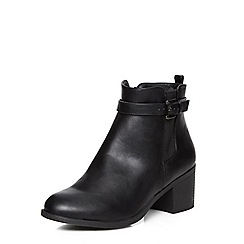 Evans - Evans extra wide fit black heeled boots