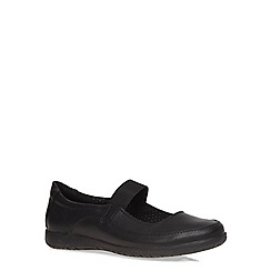 Evans - Extra wide fit black elastic mary jane pumps
