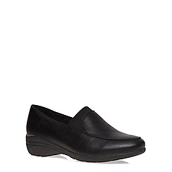 Evans - Extra wide fit black elastic panel shoe