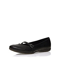 Evans - Extra wide fit black casual pump