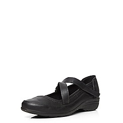 Evans - Extra wide fit black comfort shoe