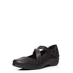 Evans - Extra wide fit black comfort shoe