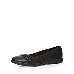 Evans - Extra wide fit black comfort pump
