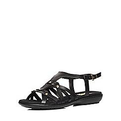 Evans - Black weave comfort sandal