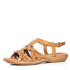 Evans - Tan weave comfort sandal