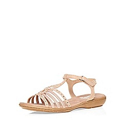 Evans - Extra wide fit pink diamante comfort sandal