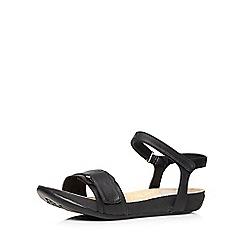 Evans - Black adjustable comfort sandal