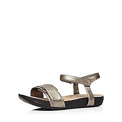 Evans - Silver adjustable comfort sandal