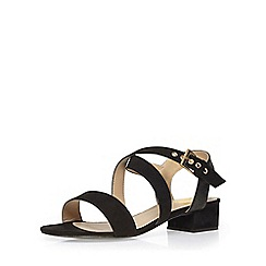 Evans - Extra wide fit black block heel sandal