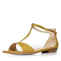 Evans - Green t-bar square toe sandal